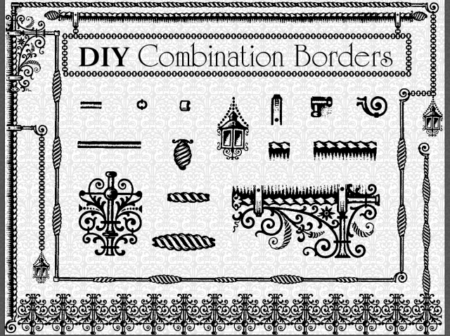 DIY Antique French Store Front Look Borders Decorative Vintage Classy Decorative Designs For Borders