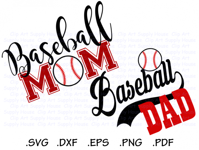 Baseball Mom Baseball Dad Base Ball Design Files Use With Silhouette Software Dxf Files Svg Font Eps File Silhouette Ca429 Meylah