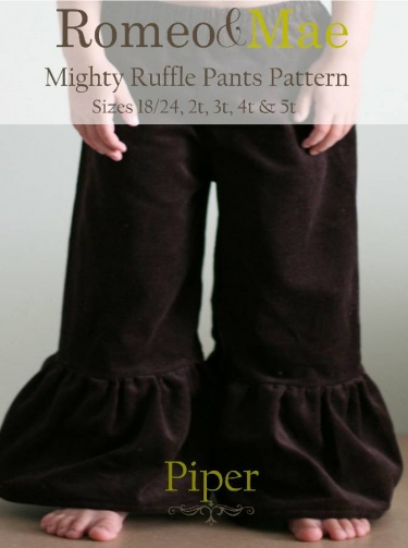 Toddler Sizes Piper Mighty Ruffle Pants Sewing Pattern