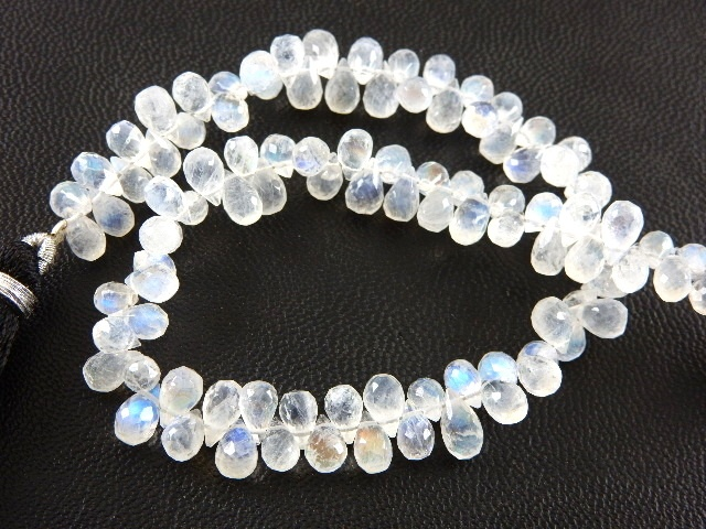 Multi Moonstone Drops Beads 5x8mm Faceted Tear Drops Beads 7 Inches Strand Multi Color Moonstone Beads Briolette Gemstone For Jewelry