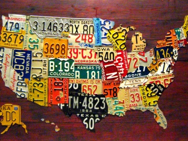License Plate Map of USA 60 Large Size Recycled Artwork Meylah