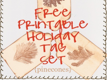 Free printable vintage holiday pinecone gift tags meylah free printable vintage holiday pinecone gift tags negle Image collections