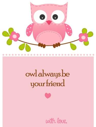 Owl Valentines Day Card PRINTABLE for Children (Perfect ...