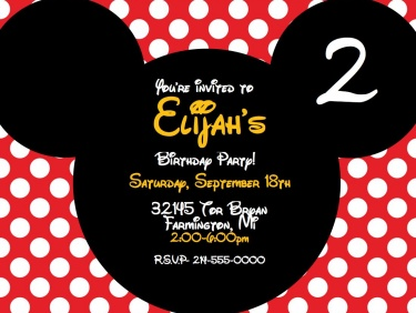 Invitation Wording For Mickey Mouse Party. Mickey Mouse Personalized Digital Party Invitation  Meylah