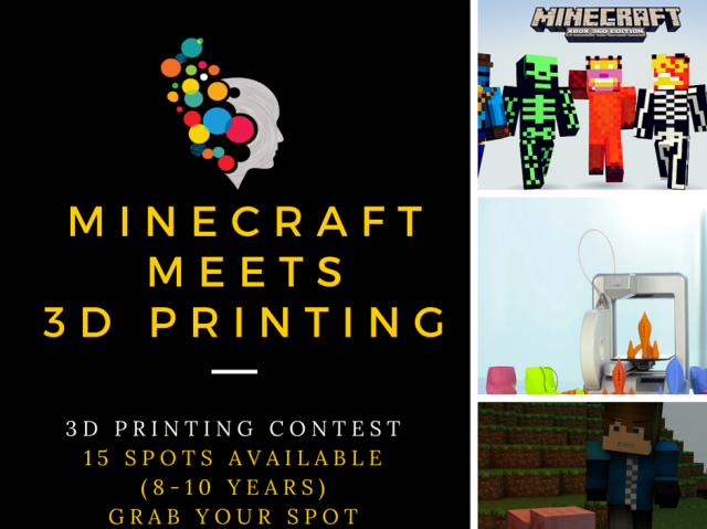New! Minecraft Meets 3D Printing - Elementary Class Contest