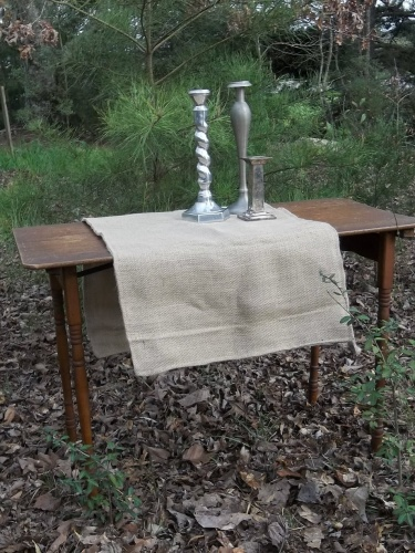 Farmhouse Table Runner Burlap French Country Decor Rustic Cabin Decor Table  Linens Made To Order