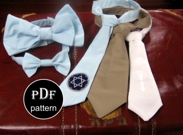 Boy's Necktie and Bowtie Printable PDF Sewing Tutorial Sizes 0-8 ...