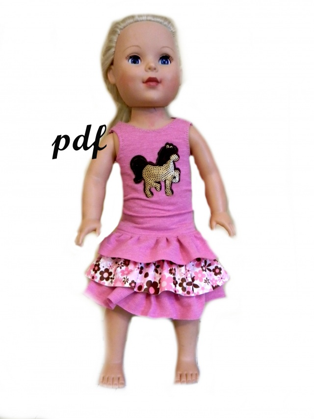 Isabella Party Dress PDF Sewing Pattern For 18\