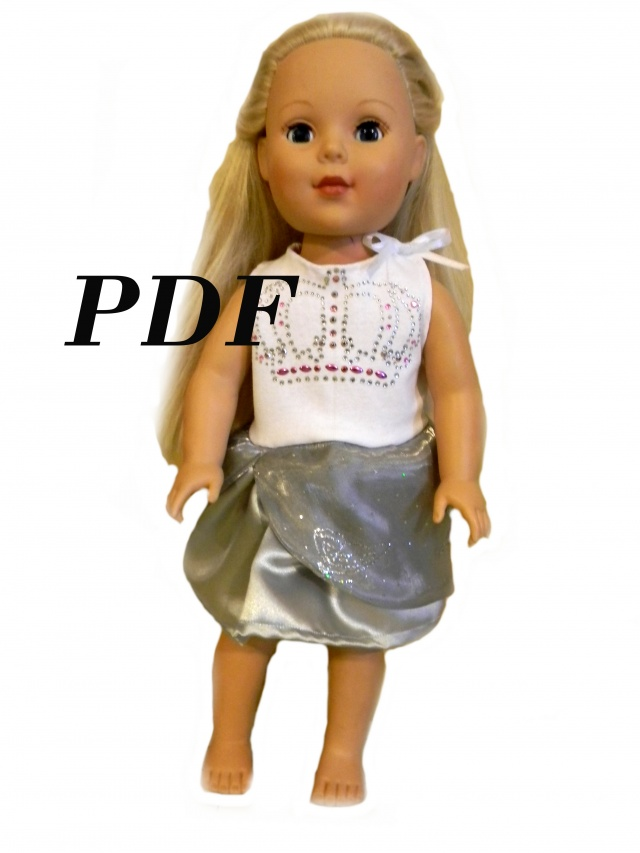 Pdf Sewing Pattern For 18 American Girl Doll Clothes Birthday