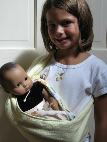 Baby Doll Sling Carrier Pdf Sewing Pattern Fits Bitty Baby