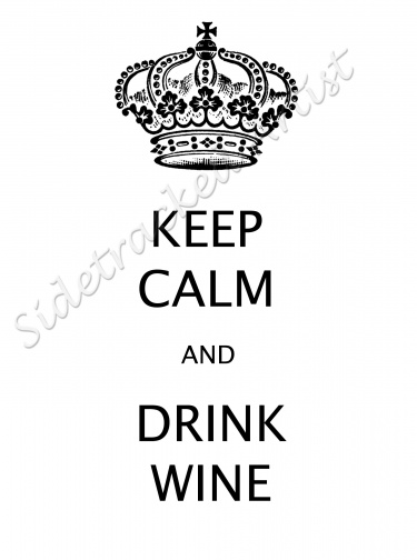 keep calm and drink wine printable digital image for