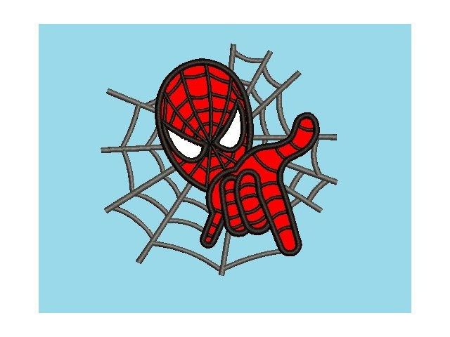 spiderman applique embroidery design  228  instant