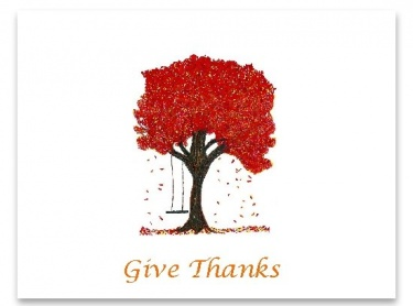 Autumn Fall Tree Give Thanks Note Cards Meylah