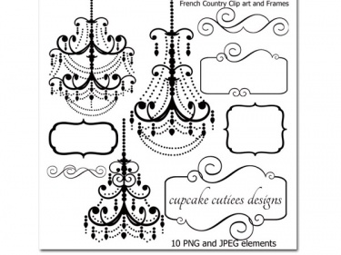 french country digital chandeliers and frames