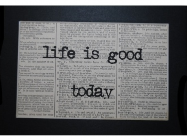 Life Is Good Today Dictionary Print Meylah