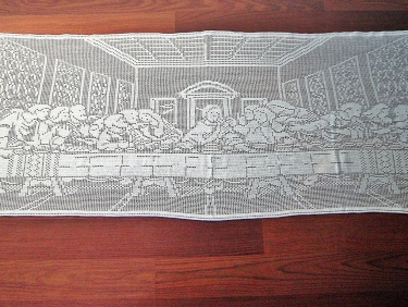 Christmas Sale The Last Supper Filet Crochet Tablecloth Wall Decor