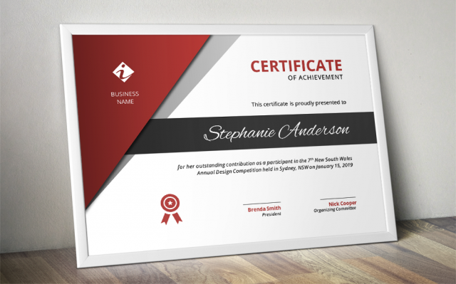 Corporate Business Certificate Template