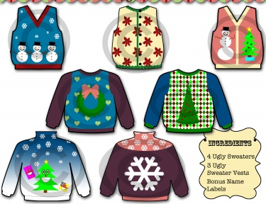 Christmas Sweater Clipart.Ugly Christmas Sweater Clip Art Meylah