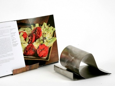 stainless steel recipe book stand