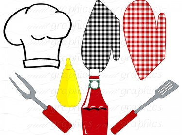 Backyard BBQ Party Digital Clip Art Printable Clipart