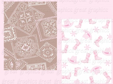 Baby Cowgirl Paper and Clip Art Pink Cowgirl Digital Paper | Meylah